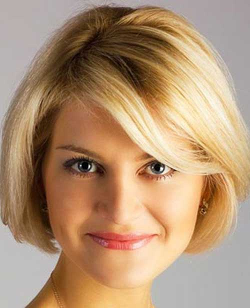 Short Hair Ideas with Fine Bangs for Over 40