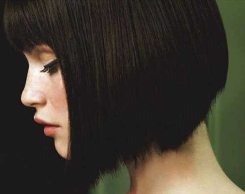 Short Hair Style for Cute Round Face