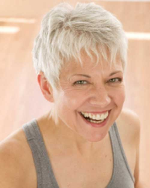 Short White Hairstyle For Women Over 50