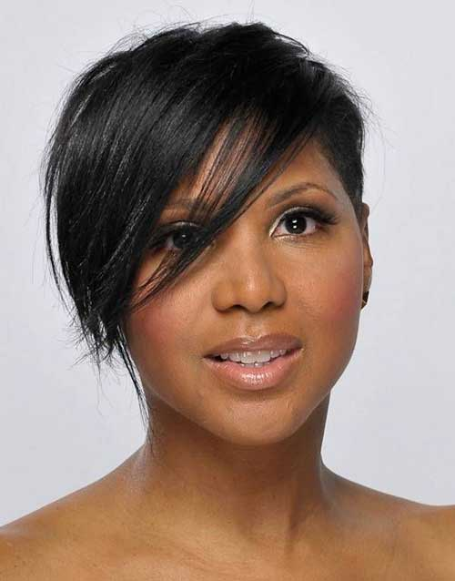 Amazing 15 New Short Hairstyles With Bangs For Black Women Short Short Hairstyles Gunalazisus