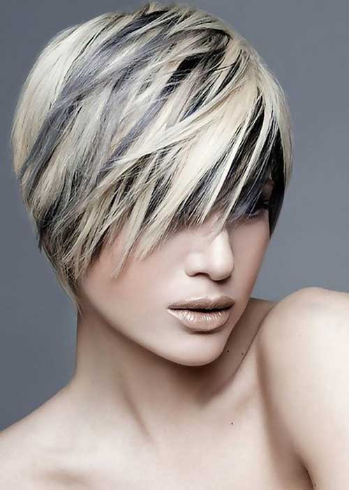 Short Haircut and Blonde Color Ideas