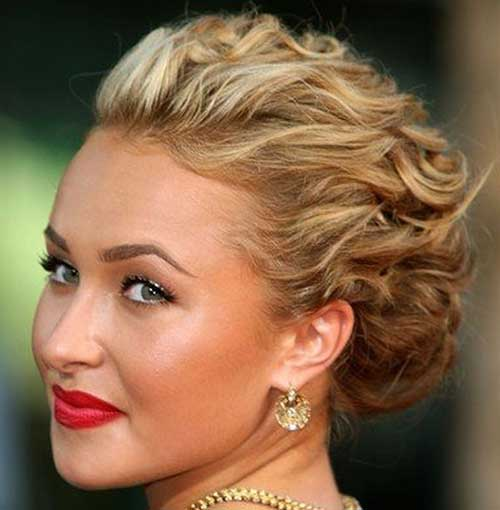 Short Haircuts Curly Thick Blonde Hair Updo