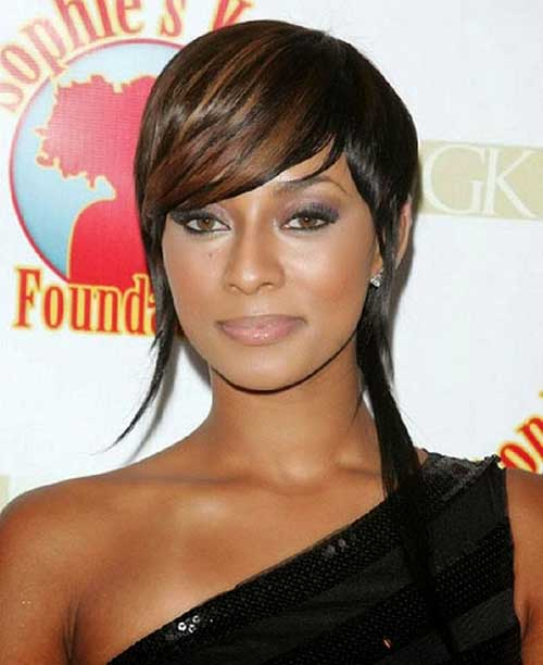 Straight Short Haircuts for Black Women with Round Faces