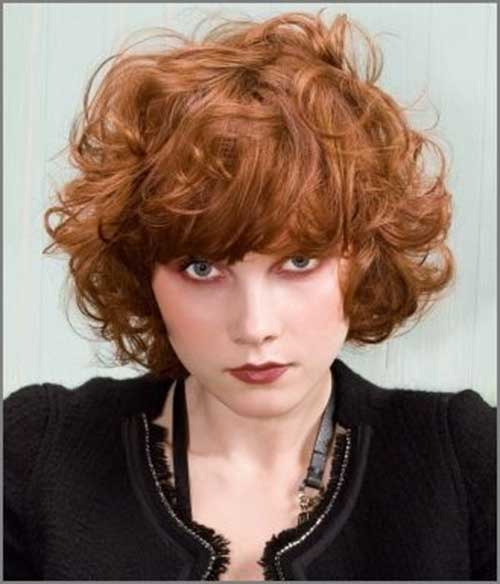 Short Haircuts for Curly Thick Ginger Hair Style