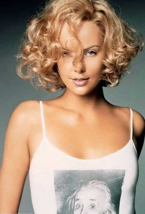 Short Haircuts for Curly Thick Hair Blonde Colored