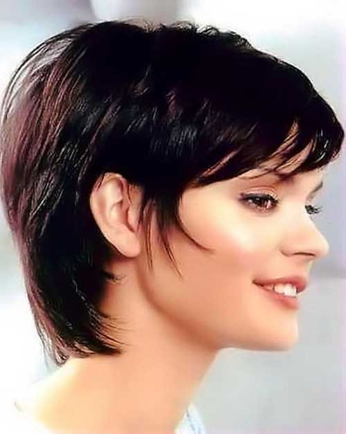 Short Haircuts for Dark Long Pixie Hair