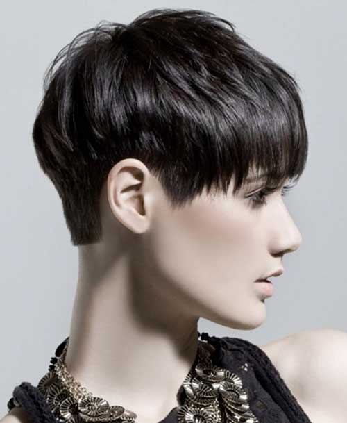 Short Haircuts for Dark Short Pixie Hair