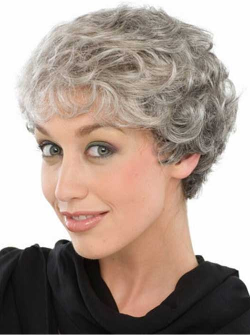 Short Haircuts for Grey Pixie Hair