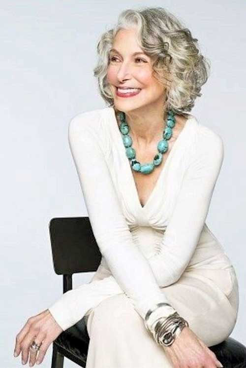Short Wavy Haircuts for Over 60