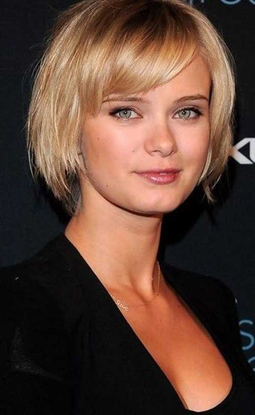 Short Bob Haircuts for Straight Hair And Round Faces