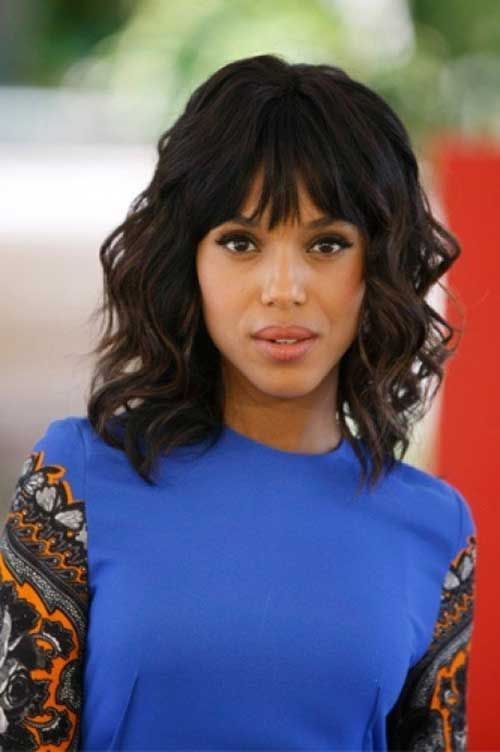 Wavy Short Haircuts with Bangs For Black Women