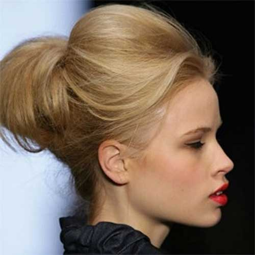 Short Hairstyles Cute Easy Bun Idea