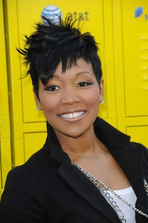 Short Spikey Hairstyles For Black Women Over 40