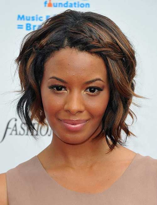 Short Hairstyles For Black Women with Braided Bangs