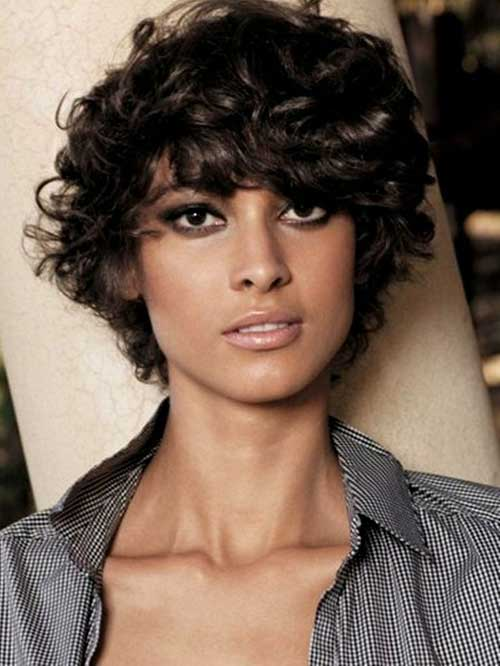 Phenomenal Short Hairstyles For Curly Frizzy Hair Short Hairstyles 2016 Hairstyles For Women Draintrainus