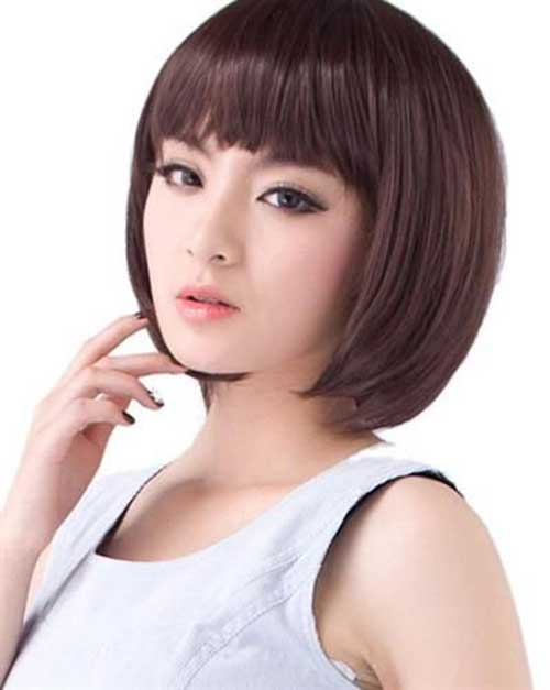 Short Hairstyles for Asian Blunt Bob Hair