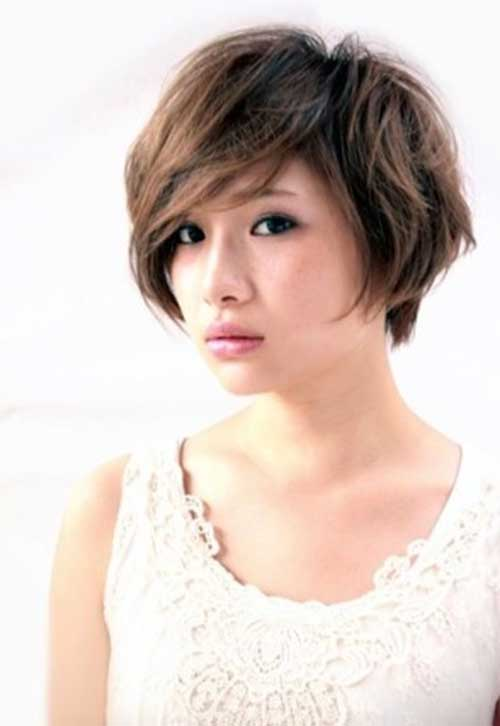 Asian Straight Layered Hair With Side Bangs 20 Asian Short ...