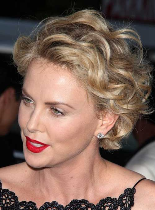 Short Hairstyles for Curly Thick Blonde Hair Type