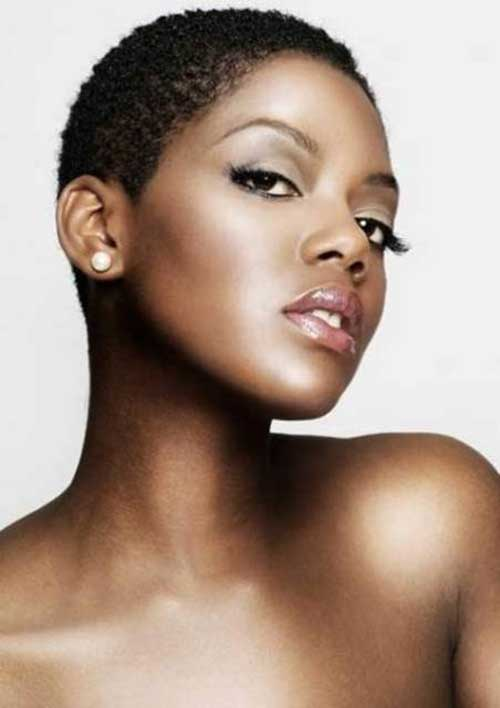 Very Short Hairstyles for Round Faces Black Women