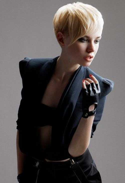 Short Blonde Hairstyles for Straight Hair And Round Faces