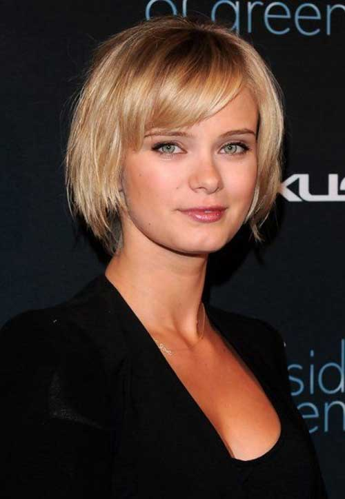 Cute Short Hairstyles for Thin Blonde Hairdo