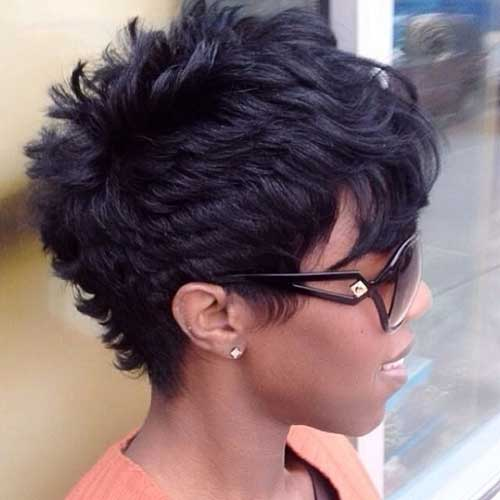 Short Curly Hairstyles with Bangs For Black Women