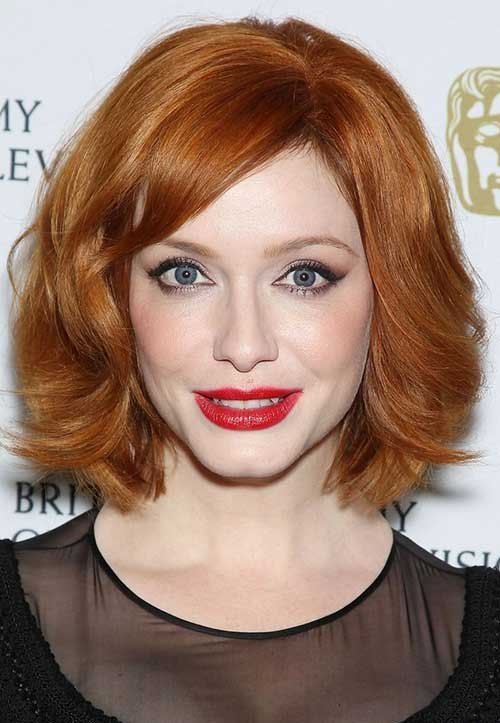 Short Ladies Haircuts for Ginger Color