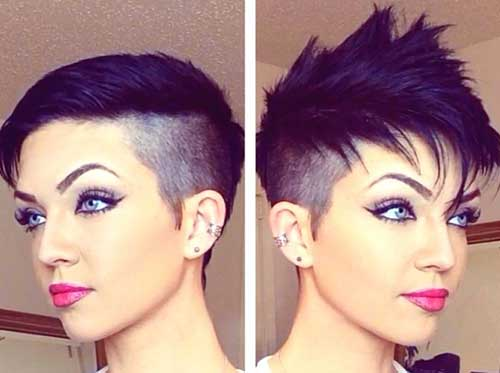 Short Lady Spiky Haircut Idea