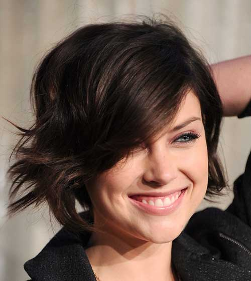 Short Layered Dark Bob Hair