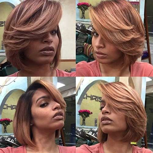Best Short Layered Hair Blonde Ombre