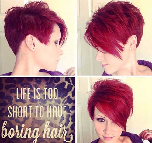 Short Layered Pixie Haircut Idea