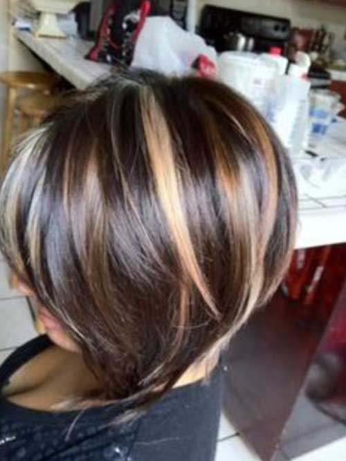 Short Lenght Highlighted Haircuts 2014