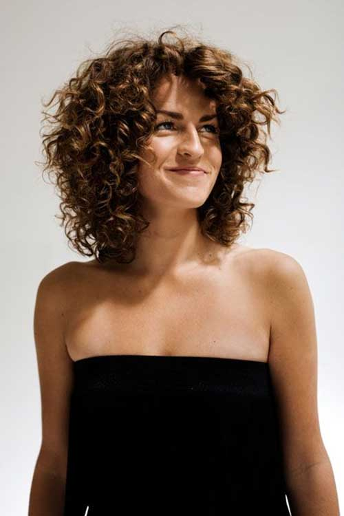 Short Medium Length Haircut for Curly Hairstyles