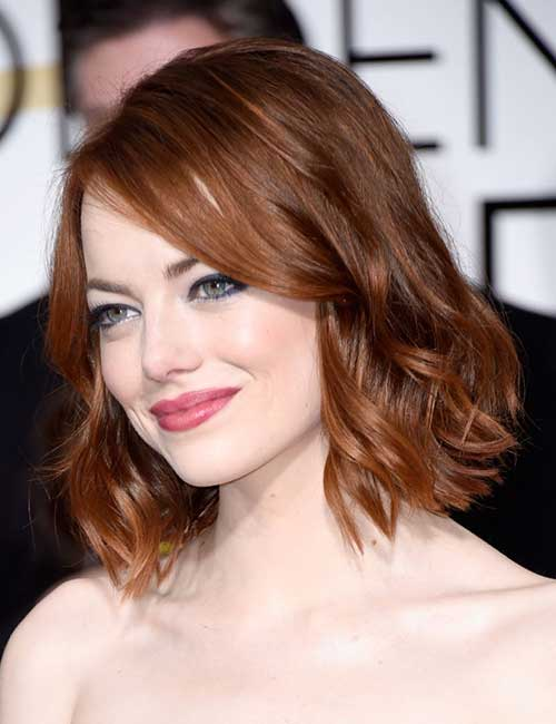 Short Medium Length Haircut Style with Wavy Ends