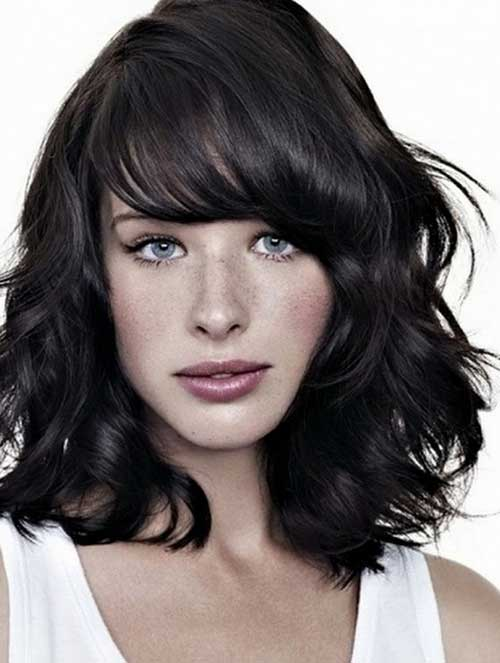 Short Medium Length Thick Hairstyles