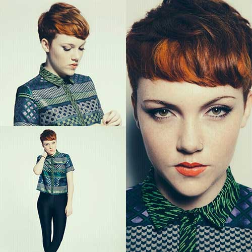 Short Pixie Cropped Ginger Hairstyles