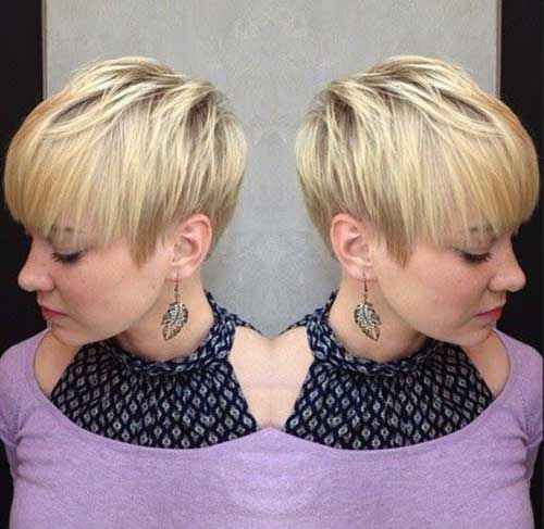Short Blonde Pixie Cut for Straight Thick Hair