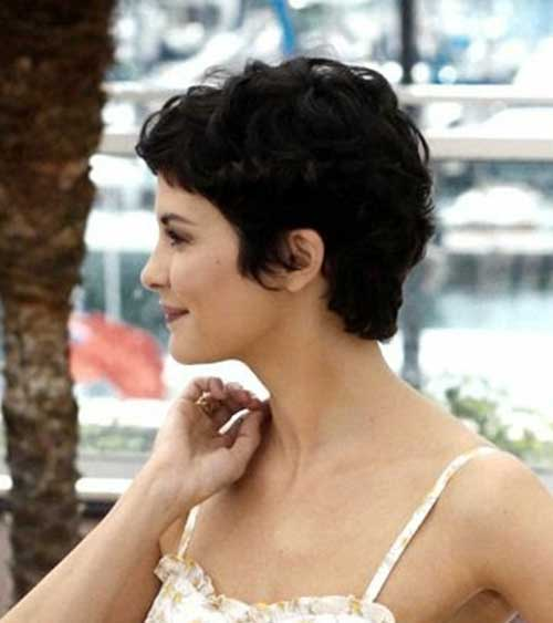 Short Pixie Dark Hair Side View Idea