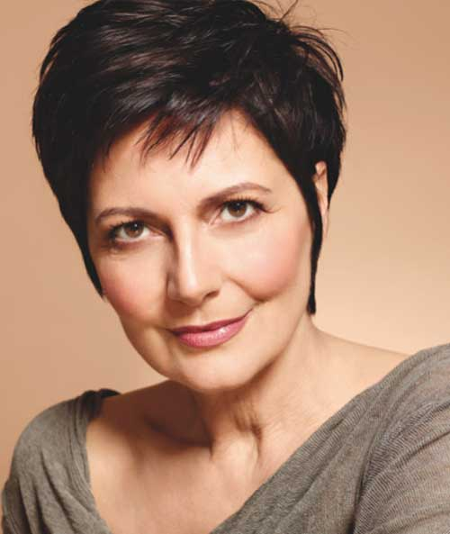 Short Brown Pixie Hair for Women Over 60