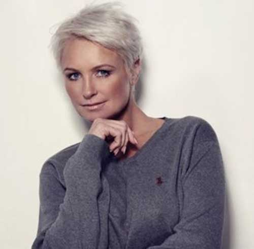 Short Pixie for Grey Hairstyles