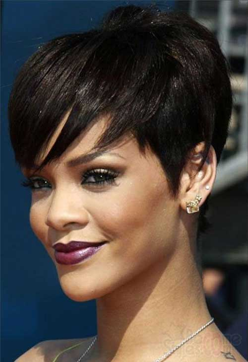 Astounding 15 New Short Hairstyles With Bangs For Black Women Short Short Hairstyles Gunalazisus