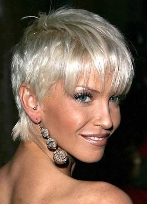 Short Platinum Pixie Hair Cuts for Over 50