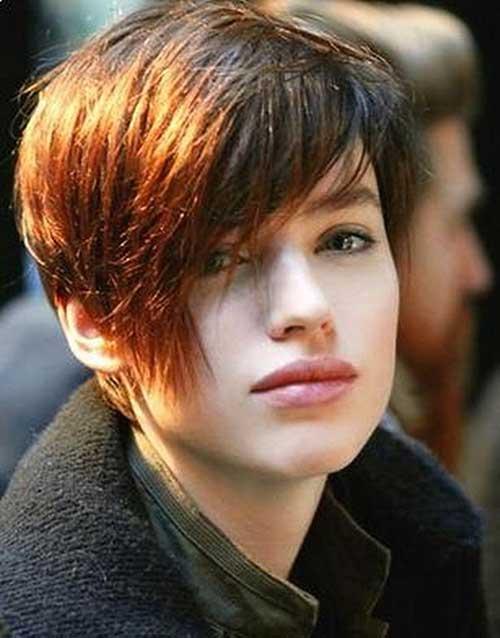 Short Brown Razor Haircuts