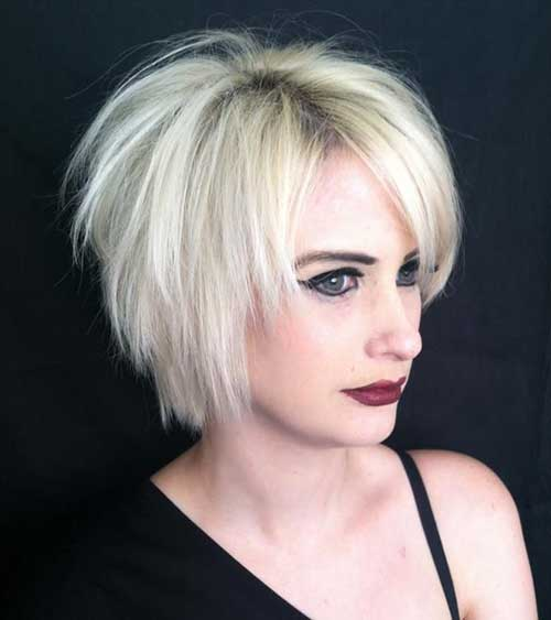 Short Razor Layered Blondie Haircuts