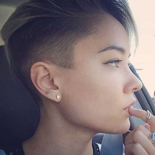 Short Razor Layered Undercut Hairstyles