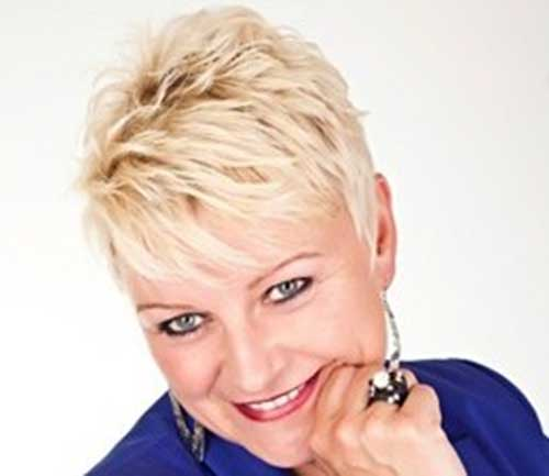 Short Spiky Hair Cuts for Over 50