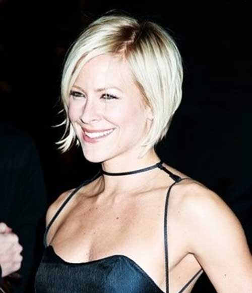 Short Stacked Wedge Blonde Bob Hairstyles