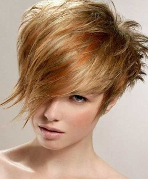 Short Stacked Wedge Blondie Hair Style