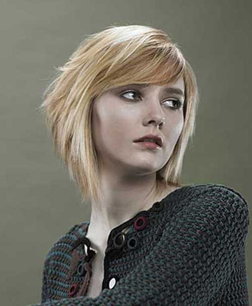 Short Stacked Wedge Bob Haircut