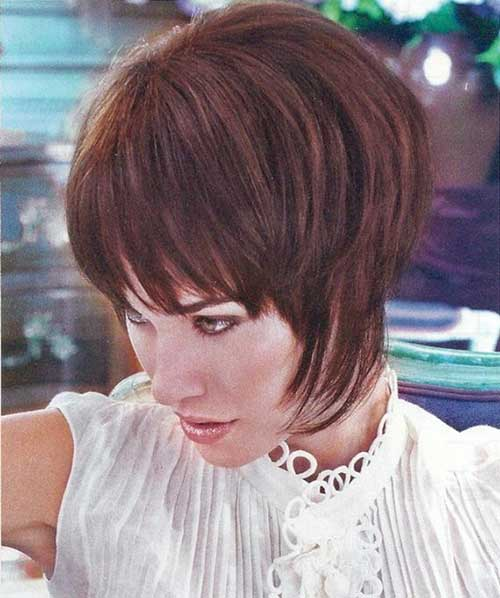 Short Stacked Wedge Hair Style Ideas